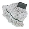 Carlisle Economy Medium Natural Yarn Mop Heads with Green Band CFS369551B00CS
