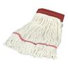 Carlisle Economy Large Natural Yarn Mop Heads with Red Band CFS 369552B00CS