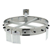 """Carlisle 16 Clip Wall Mounted Order Wheel with 9"""" Extension 18"""" - Stainless Steel CFS 3816WHCS"""