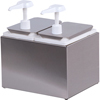 Carlisle Condiment Topping Rail with 2 Standard Pumps   Jars  - Stainless Steel CFS 38502CS