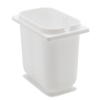 "Carlisle 2-1/2 Qt Fountain Jar 4-19/32"", 7-15/32"", 7"" - White CFS 38508CS"