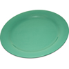 "Carlisle Durus® Melamine Dinner Plate Narrow Rim 10.5"" - Green CFS 4300209CS"