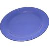 "Carlisle Durus® Melamine Dinner Plate Narrow Rim 10.5"" - Ocean Blue CFS 4300214CS"