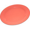 "Carlisle Durus® Melamine Dinner Plate Narrow Rim 10.5"" - Sunset Orange CFS 4300252CS"