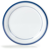 "Carlisle Durus® Melamine Dinner Plate 10.5"" - London on White CFS 43003912CS"