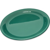 "Carlisle Durus® Melamine Narrow Rim Dinner Plate 9"" - Green CFS 4300409CS"