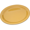 "Carlisle Durus® Melamine Narrow Rim Dinner Plate 9"" - Honey Yellow CFS 4300422CS"