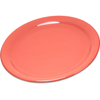 "Carlisle Durus® Melamine Narrow Rim Dinner Plate 9"" - Sunset Orange CFS 4300452CS"