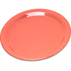 "Carlisle Durus® Melamine Salad Plate Narrow Rim 7.25"" - Sunset Orange CFS 4300652CS"