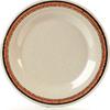 "Carlisle Durus® Melamine Wide Rim Dinner Plate 10.5"" - Sierra Sand on Sand CFS 43011908CS"