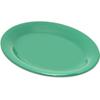 "Carlisle Durus® Melamine Oval Platter Tray 9.5"" x 7.25"" - Green CFS 4308609CS"
