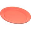 """Durus® Melamine Oval Platter Tray 9.5"""" x 7.25"""" - Sunset Orange"""