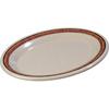 "Carlisle Durus® Melamine Oval Platter Tray 9.5"" x 7.25"" - Sierra Sand on Sand CFS 43087908CS"