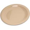 "Carlisle Dallas Ware® Melamine Bread  Butter Plate 5.5"" - Tan CFS 4350525CS"