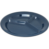 "Carlisle Dallas Ware® Melamine 3-Compartment Plate 11"" - Caf Blue CFS 4351235CS"