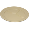 "Carlisle Dallas Ware® Melamine 3-Compartment Plate 9.75"" - Tan CFS 4351425CS"