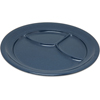 "Carlisle Dallas Ware® Melamine 3-Compartment Plate 9.75"" - Caf Blue CFS 4351435CS"