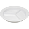 "Carlisle Dallas Ware® Melamine 3-Compartment Deep Plate 9"" - White CFS 4351602CS"