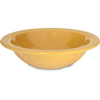Carlisle Dallas Ware® Melamine Grapefruit Bowl 10 oz - Honey Yellow CFS 4352922CS