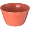 Carlisle Dallas Ware® Melamine Bouillon Cup Bowl 8 oz - Sunset Orange CFS 4354052CS