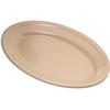 "Carlisle Dallas Ware® Melamine Oval Platter Tray 9.25"" x 6.25"" - Cash  Carry (12/st) - Tan CFS 43563-825CS"