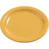 "Carlisle Dayton Melamine Bread  Butter Plate 5.5"" - Honey Yellow CFS 4385622CS"