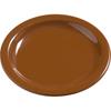 "Carlisle Dayton Melamine Bread  Butter Plate 5.5"" - Toffee CFS 4385643CS"