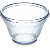 Carlisle Stackable Low Profile SAN Plastic Tumbler 6 oz - Clear CFS 4393707CS