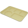 Carlisle Left-Hand Heavy Weight 6-Compartment Tray - Yellow CFS 4398004CS