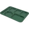 Carlisle Left-Hand Heavy Weight 6-Compartment Tray - Forest Green CFS 4398008CS