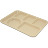 Carlisle Left-Hand Heavy Weight 6-Compartment Tray - Tan CFS 4398025CS