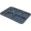 Carlisle Left-Hand Heavy Weight 6-Compartment Tray - Caf Blue CFS 4398035CS