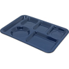 Carlisle Left-Hand Heavy Weight 6-Compartment Tray - Dark Blue CFS 4398050CS