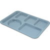 Carlisle Left-Hand Heavy Weight 6-Compartment Tray - Slate Blue CFS 4398059CS