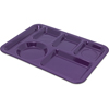 Carlisle Left-Hand Heavy Weight 6-Compartment Tray - Purple CFS 4398087CS