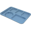 Carlisle Left-Hand Heavy Weight 6-Compartment Tray - Sandshade CFS 4398192CS