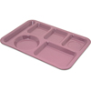 Carlisle Left-Hand Heavy Weight 6-Compartment Tray - Rose Granite CFS 4398193CS
