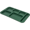 "Carlisle Right Hand 6-Compartment Melamine Tray, 15"" x 9"" - Forest Green CFS 4398208CS"