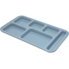 "Carlisle Right Hand 6-Compartment Melamine Tray, 15"" x 9"" - Slate Blue CFS 4398259CS"