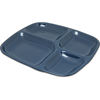 "Carlisle 4-Compartment Server Tray 10-5/16"", 9-19/32"", 27/32"" - Caf Blue CFS 4398635CS"