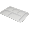 "Carlisle Tray 6 Compartment Right Hand 14.5"" x 10"" - White CFS 4398802CS"