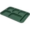 "Carlisle Tray 6 Compartment Right Hand 14.5"" x 10"" - Forest Green CFS 4398808CS"