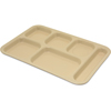 "Carlisle Tray 6 Compartment Right Hand 14.5"" x 10"" - Tan CFS 4398825CS"