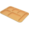 "Carlisle Tray 6 Compartment Right Hand 14.5"" x 10"" - Bright Yellow CFS 4398834CS"