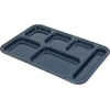 "Carlisle Tray 6 Compartment Right Hand 14.5"" x 10"" - Caf Blue CFS 4398835CS"