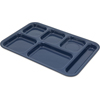 "Carlisle Tray 6 Compartment Right Hand 14.5"" x 10"" - Dark Blue CFS 4398850CS"