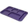 "Carlisle Tray 6 Compartment Right Hand 14.5"" x 10"" - Purple CFS 4398887CS"