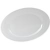 """Designer Displayware Wide Rim Round Platter 15"""" - White"""