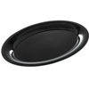 "Designer Displayware Wide Rim Oval Platter 17"" x 13"" - Black"