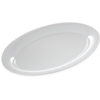 "Designer Displayware Wide Rim Oval Platter 21"" x 15"" - White"